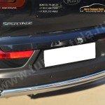 Защита заднего бампера 75х42 (дуга) KIA SPORTAGE 2014-