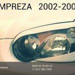 Реснички на фары 4шт Subaru Impreza Субару Импреза 2002-2005