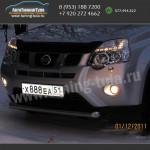 Защита переднего бампера Ниссан X-trail