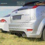 """Задняя Юбка-Диффузор """"Sport"""" Ford Focus 2 3-5 дверей хэтчбек"""
