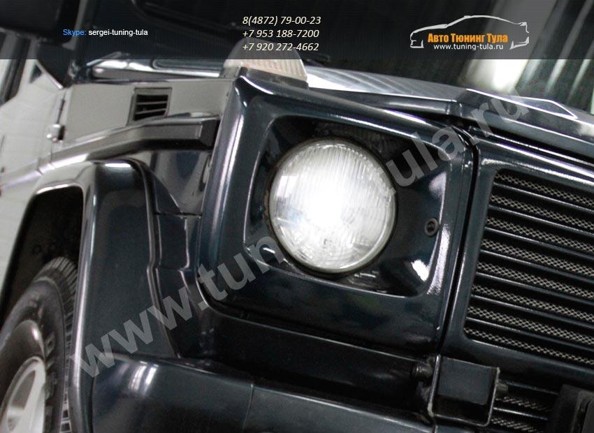 Корпуса фар АБС-пластик на Mercedes Гелендваген  W463 / арт.31