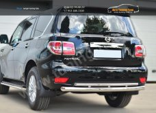 Nissan Patrol 2014- Защита заднего бампера d76 (дуга) d42 (дуга) /арт.113