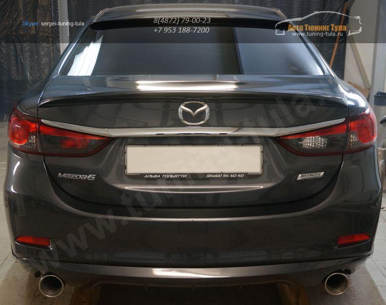Mazda 6 2012 – Лип спойлер багажника + Накладка на заднее стекло – Козырек /арт.110