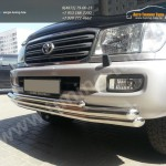 Защита переднего бампера d63/63/42 Toyota LC 100