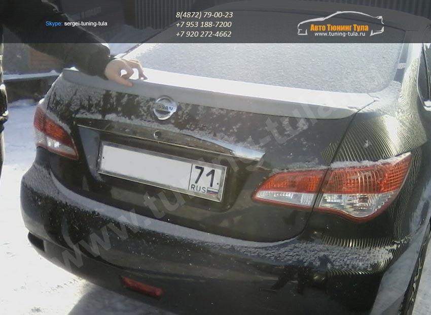 Nissan almera spoiler фото