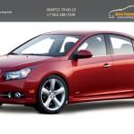 Chevrolet Cruze 2009 - Накладки на пороги 2шт. АБС пластик