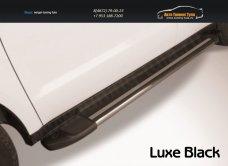 """Пороги алюминиевые """"Luxe Black"""" 2000 черные Toyota Hilux /арт.363-12"""