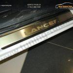Lancer 10|Накладки порогов от царапин Alufrost нержавеющая сталь  /арт.148
