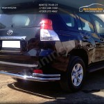 Защита заднего бампера волна d-76+43 Toyota Prado 150 2014+