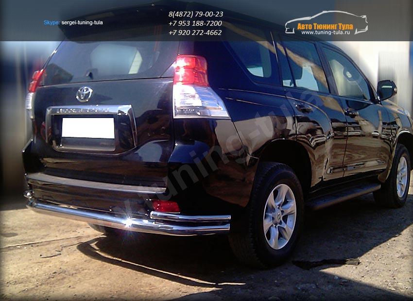 Защита заднего бампера  волна d-76+43 Toyota Prado 150 2014+/ арт.153