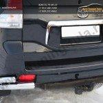 Защита заднего бампера уголки d76(секции) d63 (секции) Land Cruiser Prado 150 2009-2012