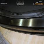 Накладки из нержавеющей стали на задний бампер Alufrost Польша