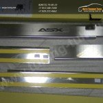 Накладки на пороги от царапин Alufrost нерж. сталь Mitsubishi ASX 2010+
