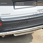 Chevrolet Captiva 2013- Защита заднего бампера d63 (дуга) d42 (дуга) декор-паз