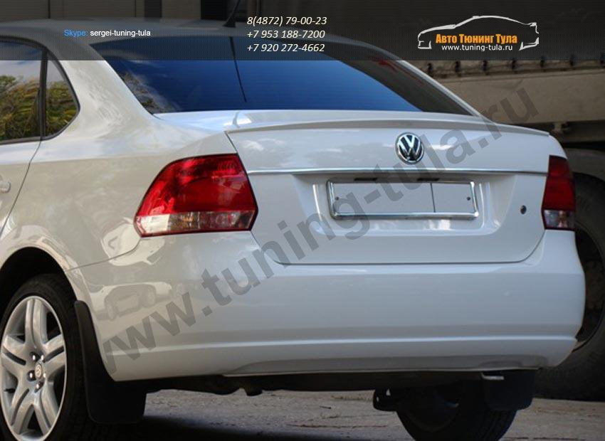 Спойлер низкий на Фольксваген Поло седан / VW POLO Sedan 2010+ (арт.207)