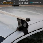 Авто багажник без рейлингов  с прямоугольными дугами