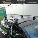 Авто багажник без рейлингов  с аэродинамическими дугами
