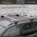 Авто багажник на рейлинги с прямоугольными дугами