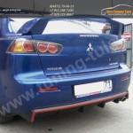 Диффузор заднего бампера вар.1 /Абс-пластик/ Evo Lancer X /Лансер 10 2007+