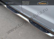 Пороги d76 с накладками на VW Амарок /Защита порогов VW Amarok/арт.219