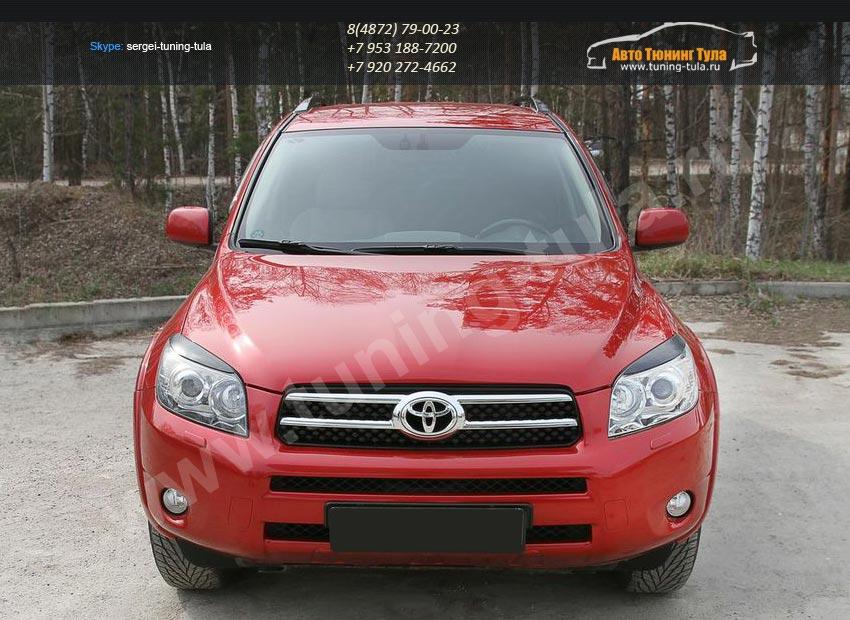 Накладки фар / Реснички / Абс-пластик / Toyota RAV 4 2005 – 2012 / арт.703