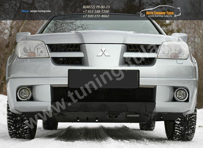 Накладка переднего бампера Mitsubishi OUTLANDER I 2003-2007/арт.223