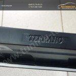 Накладка (защита от царапин) на задний бампер Nissan Terrano (2014-)