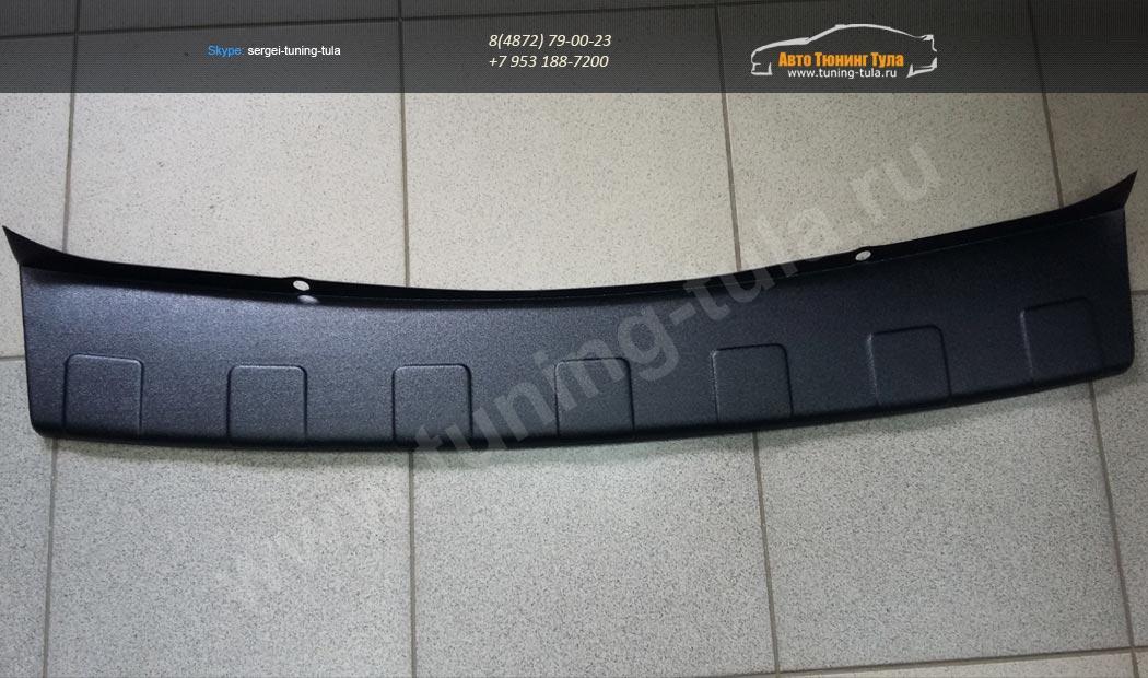 Накладка (защита от царапин) на задний бампер Nissan Terrano (2014-) /арт.236