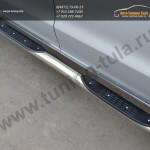 Пороги d76 с накладками на VW Амарок /Защита порогов VW Amarok
