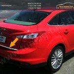 Накладка на нижнюю кромку багажника (Sedan) FORD FOCUS (2012-) (нерж.) OMSA