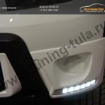 :: Renault Duster 2010-2014 Накладки на противотуманные фары (LED)