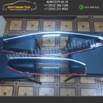 Дефлекторы с хром полосой Шкода Октавия/Octavia А5