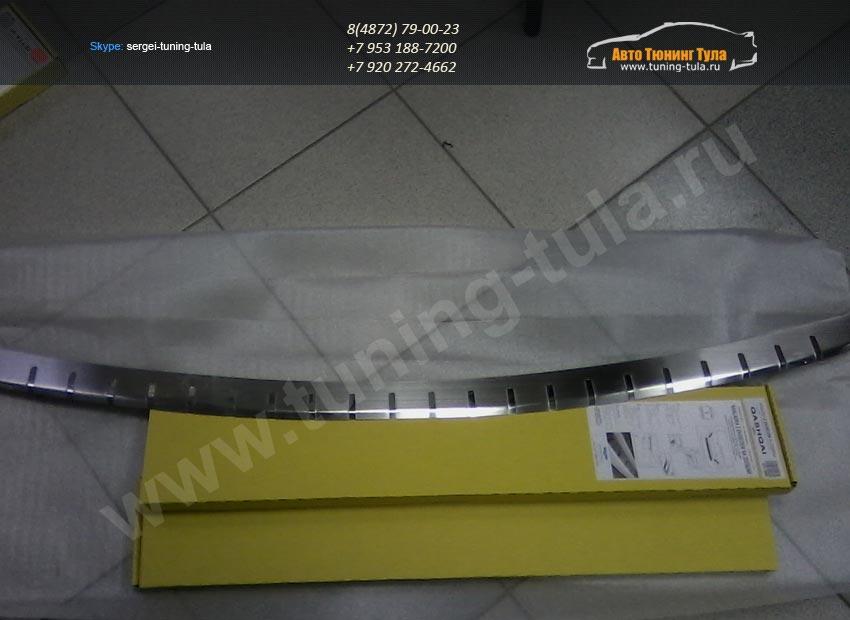 Накладка заднего бампера с загибом / от царапин Nissan QASHQAI 2007+ /арт.274