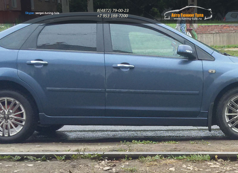 Накладки порогов SR Форд Фокус 2/4-5 дв. |Ford Focus II 2004 – 2012 /арт.272