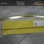 Накладка заднего бампера с загибом/ от царапин Nissan QASHQAI 2007+