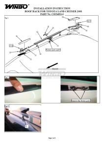 Инструкция по установке C093499A1 рейлинги крыши OE Style Toyota LAND CRUISER 200 07+