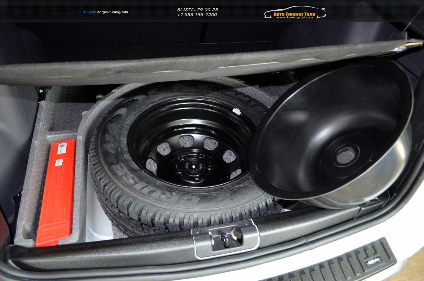 Бокс в запасное колесо (КАРТ) R16 Renault Duster 2010-2016, Nissan Terrano 2014- /арт.390