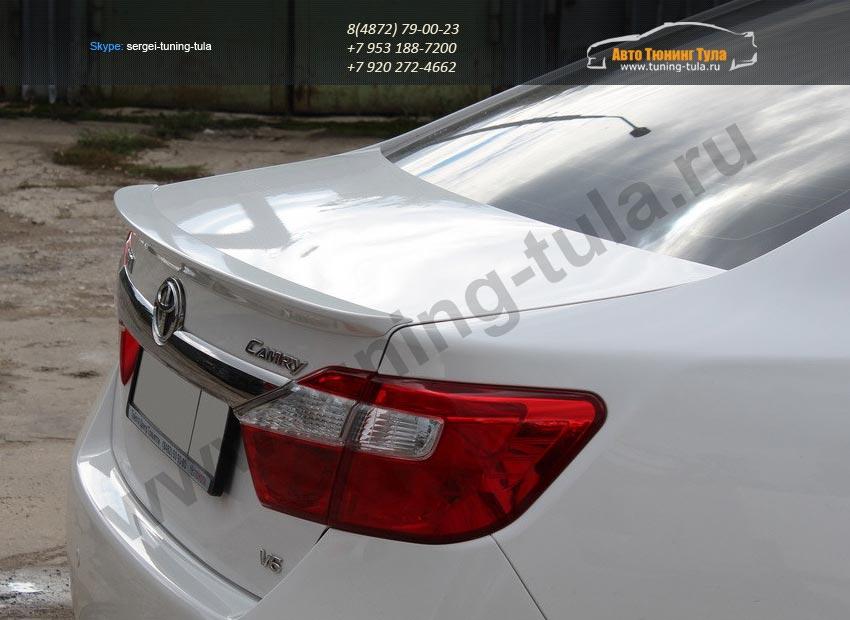 Лип спойлер багажника /Абс-пластик/ Тойота CAMRY V50 с 2012 г.в/арт.388