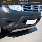 Защита переднего бампера Рено Дастер d75x42 (Овал)