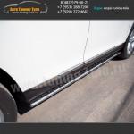 Пороги/Подножки d75x42  на Тойота Хайлендер с 2010
