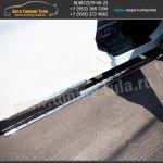 Пороги/Подножки d75x42 овал с проступью Honda CR-V III 2007+