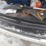 Накладки на порожек багажника+накладка на задний бампер Renault Duster 2010- или Nissan Terrano 2014-