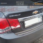 Нерж.Сталь:Накладка над номером+Кант крышки багажника Шевроле Круз