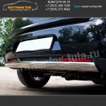Защита заднего бампера 75x42 Овал  Ситроен C4 AirCross