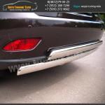 Защита задняя двойная овальная d75x42 Lexus RX III с 2012