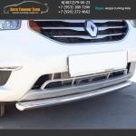 Защита переднего бампера d63 Рено Колеос / KOLEOS 2012