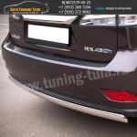 Защита задняя d75x42 овал Lexus RX III с 2012 г.