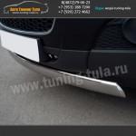 Защита передняя d75x42 овал Шевроле Каптива 2012