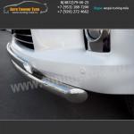 Защита переднего бампера d76/75x42 LEXUS LX570