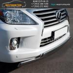 Защита переднего бампера d75x42/75x42 LEXUS LX570 с 2012г.в.